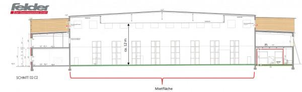 Produktions- und Fertigungsfläche in revitalisierter Fertigungshalle