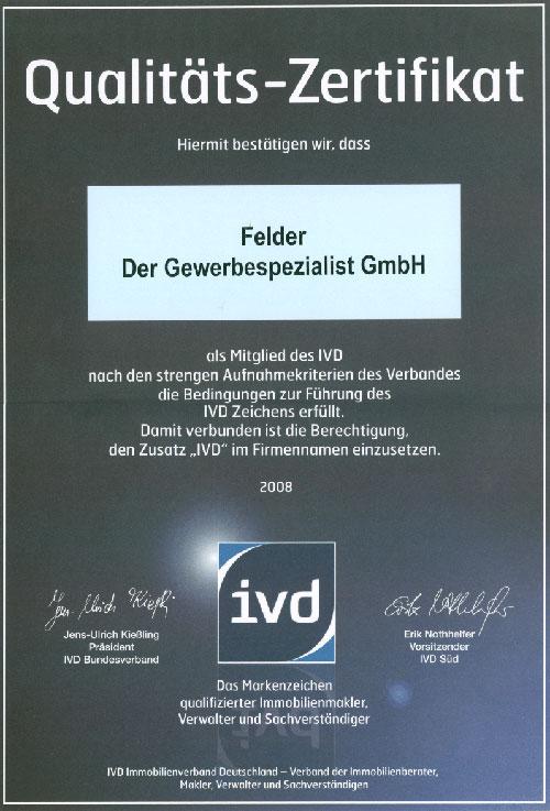 Qualitaets-Zertifikat