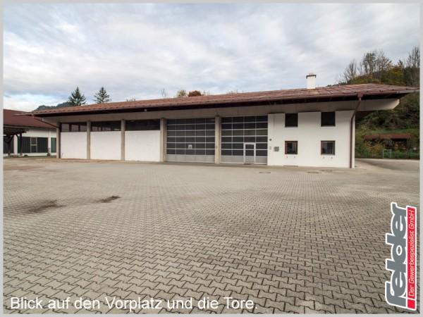 Halle mit großem Freilager, Büro, Werkstatt und Lager