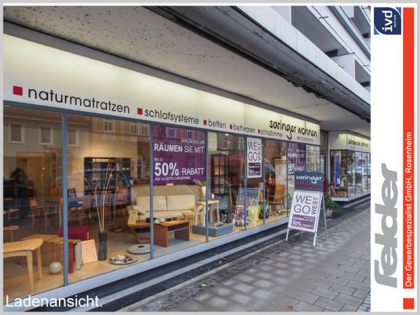 Einzelhandelsfläche mit großzügiger Schaufensterfront
